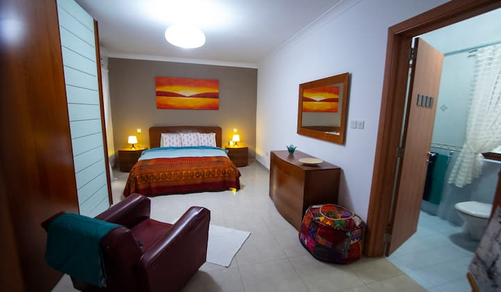 Spacious and comfortable  air conditioned bedroom