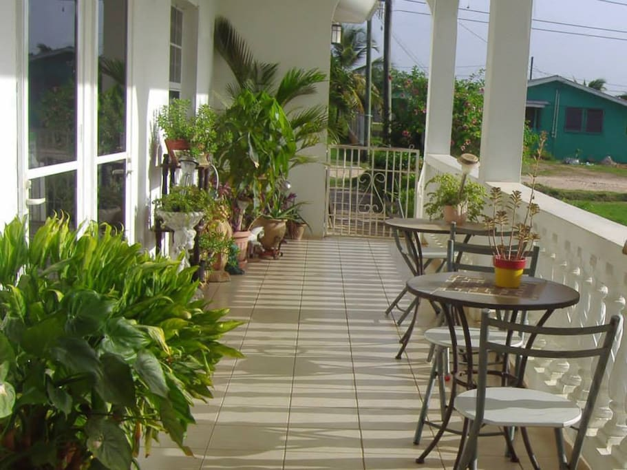 outdoor patio for guest relaxation.