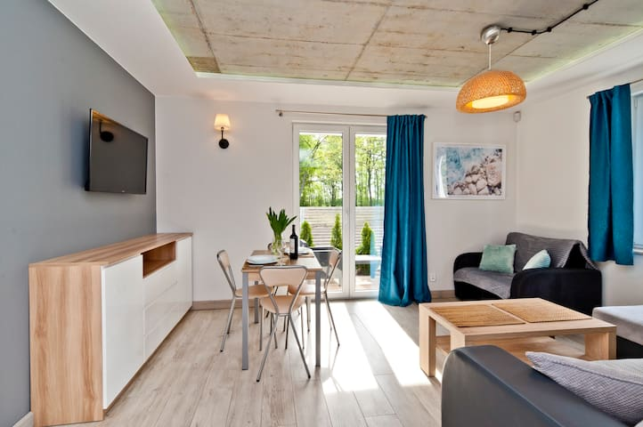 Apartament - patio, Dębki