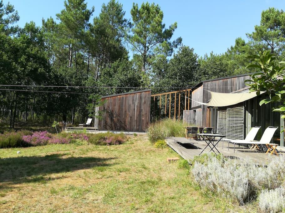 maison d 39 architecte dans les landes maisons louer. Black Bedroom Furniture Sets. Home Design Ideas