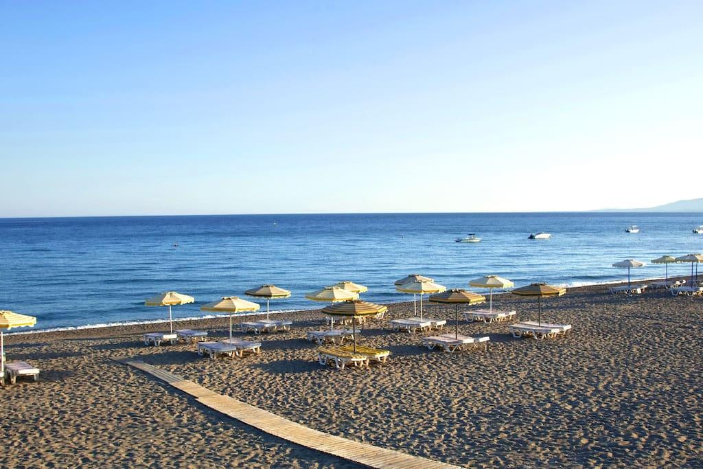 The beach just outsite the villa.