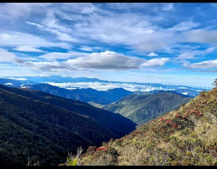 Rancho en la montaña