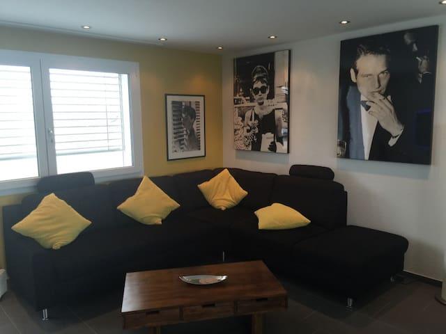 Zimmer in schöner Attika Wohnung - Merenschwand - Lejlighed