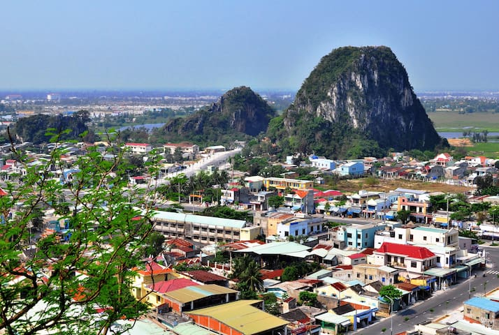 Marble Mountains are pretty close by as well, approximately 7-minute by car or taxi.