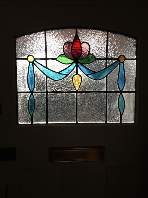 Front door stained glass detail