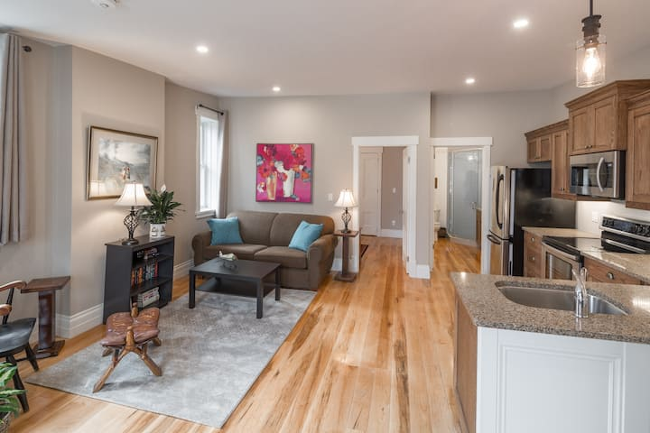 Cozy Fireside Apartment in the Heart of Downtown