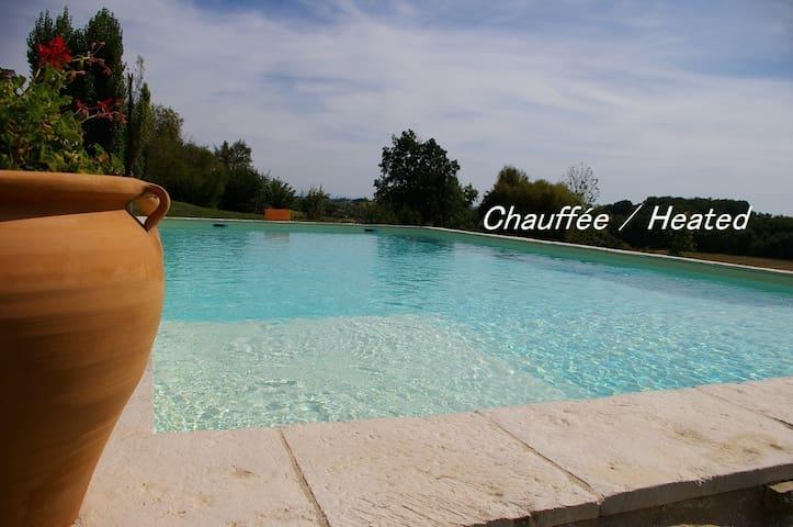 Maison de l'Amandier, climatisée, piscine chauffée