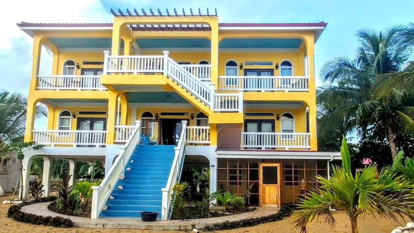 Belize Beach Condos - Large home on Private Beach