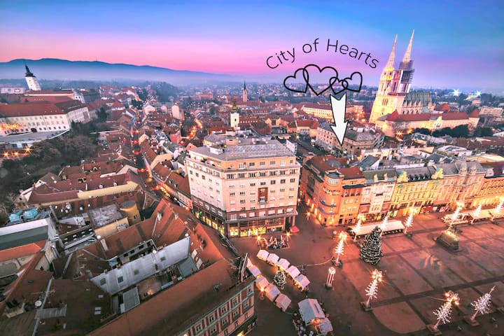 City of Hearts is placed on the main Market of the Zagreb City, Dolac :)
