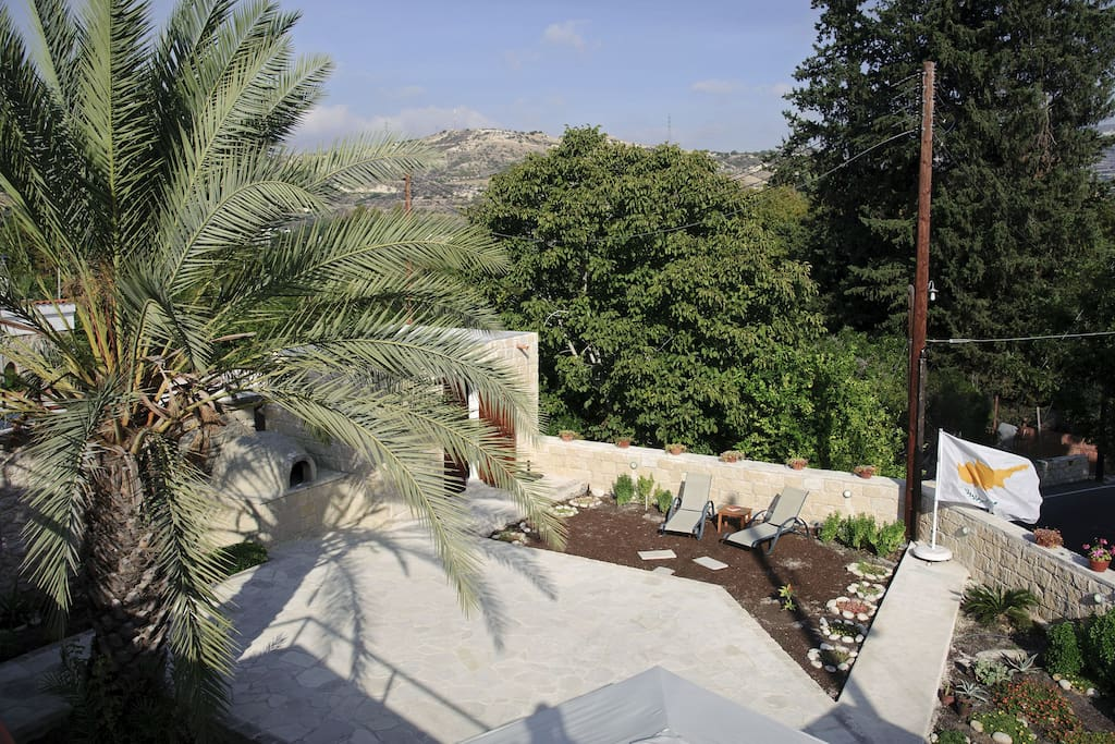 Garden and Scenic Mountain View from Roof Terrace