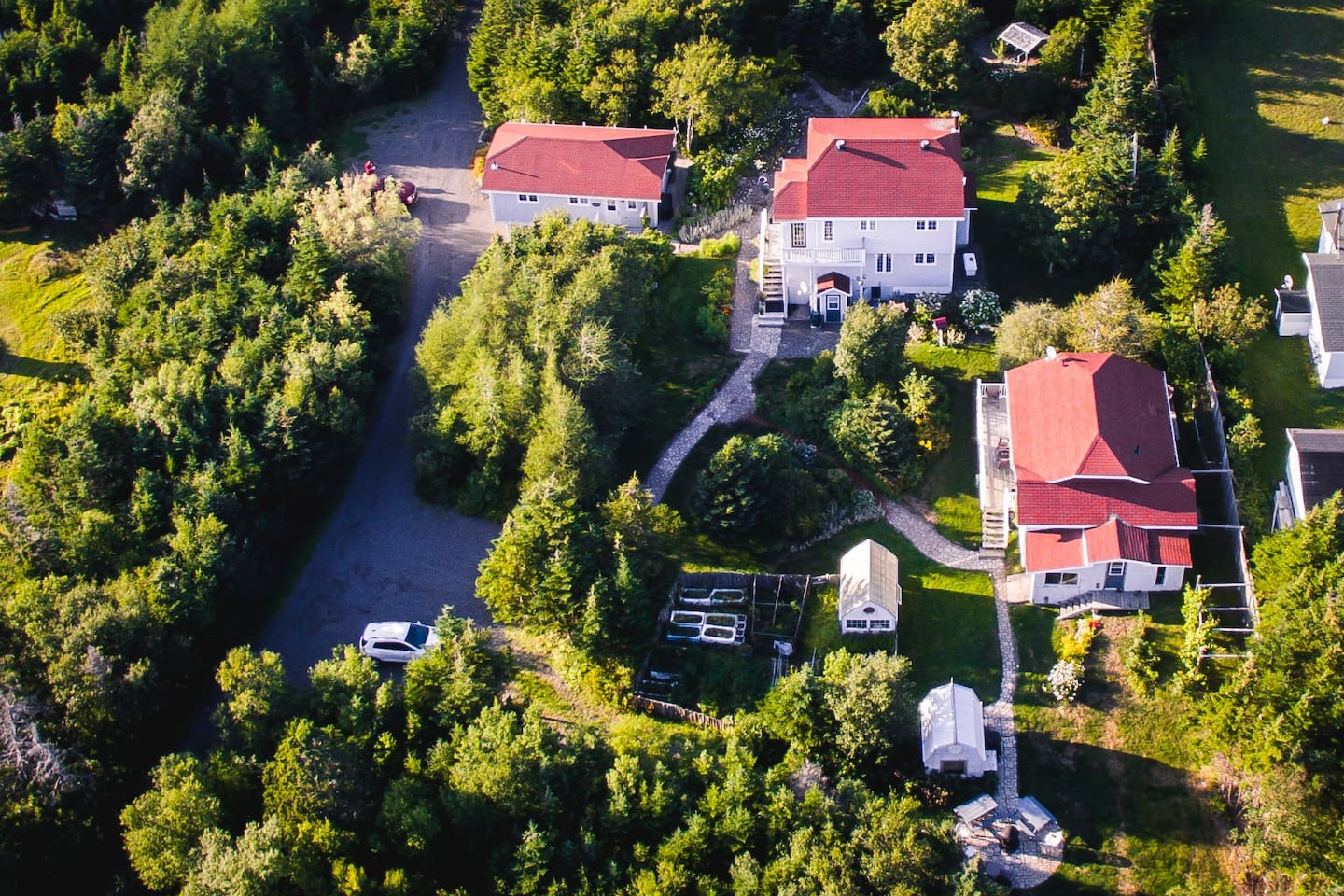 Aerial view of our property