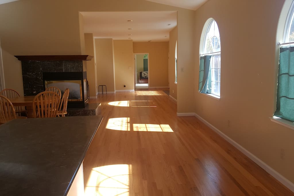 Open floor plan, south facing, very sunny and bright.