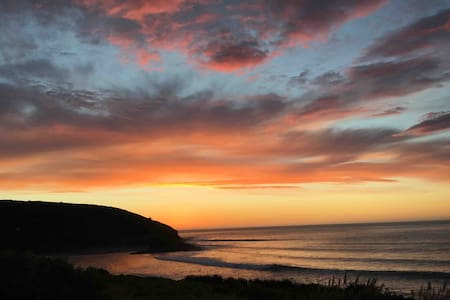 Epic surf views and stunning sunsets in the Bay!