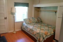 COMFORTABLE DOUBLE  BED  WITH NICE FRESH  SHEETS.