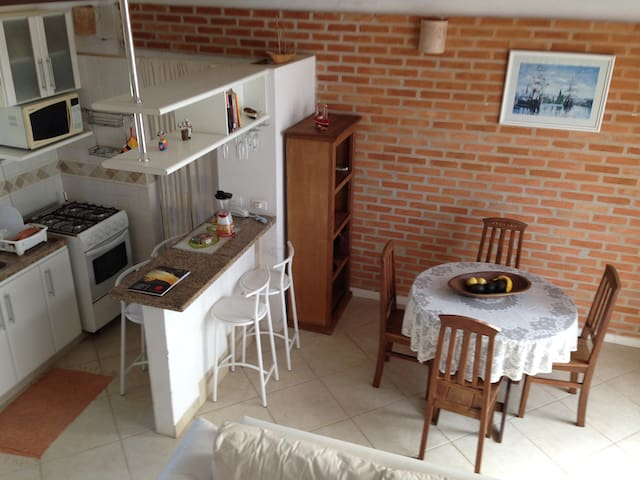 Charming flat, white sandy Juquehy beach! - Praia do Una - Apartment