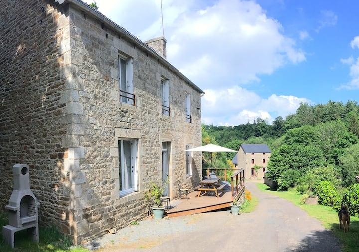Moulin/ Maison Repos Mer Randonnée Pêche Famille