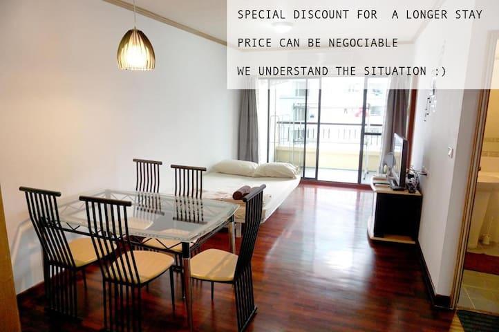 2BR Condo,The Best location,Clean,Convenient,
