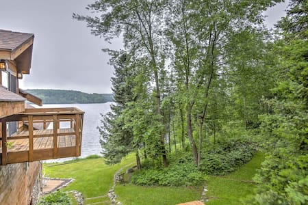 Iron River House on Lake Chicagon w/ Sauna & Dock