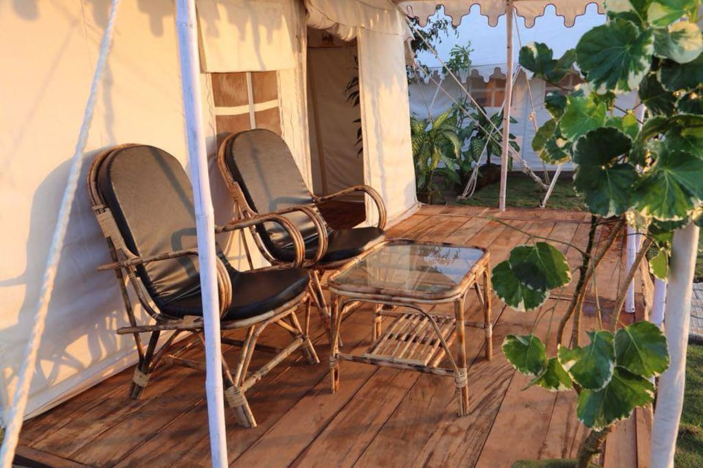 All of our tents have veranda with sea view