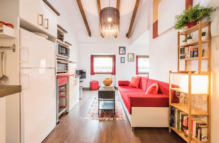 Preciosa buhardilla en Lavapies - Madrid - Apto. en complejo residencial