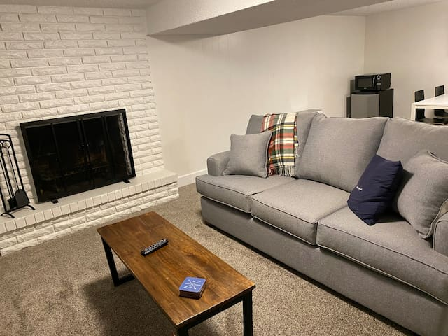 Private basement close to ski resorts!