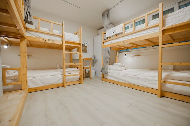 ☆Hongdae Gguesthouse /7-Bed Mix Dorm / Breakfast☆