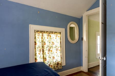 Greek Revival Farmhouse Blue Room - Ithaca