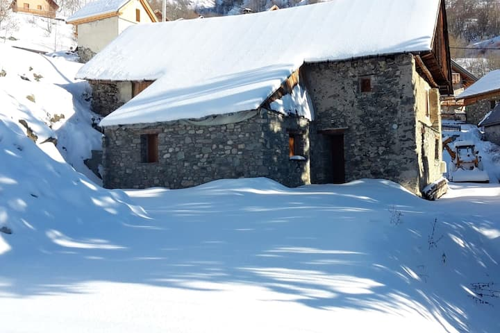 House with 2 bedrooms in Valloire, with wonderful mountain view, furnished garden and WiFi - 1 km from the slopes