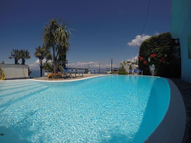 Villa Bianca Sorrento Amalficoast view,pool,gym