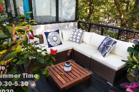 【夏日时光Summertime】小洋楼里的迷人屋顶花园 法租界衡山路 - Shanghai