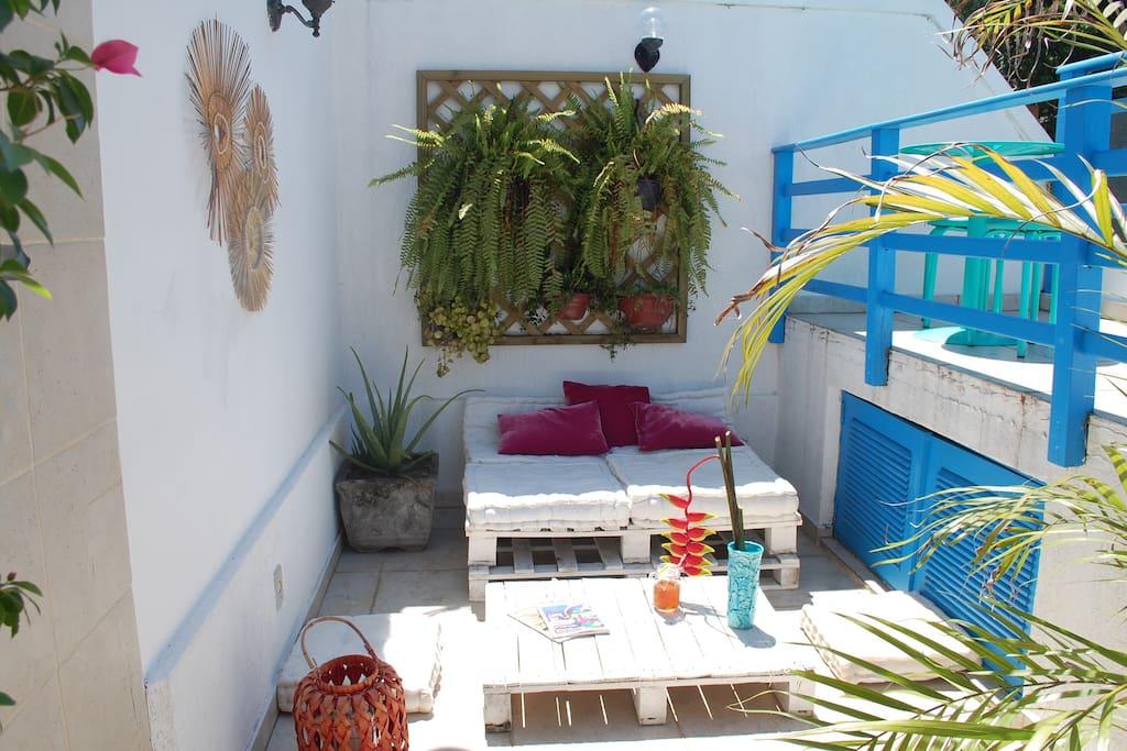 Área de relax do Deck / Chillout area of the Deck