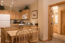 Enjoy breakfast, lunch and dinner in the Keystone Family Zone Condo