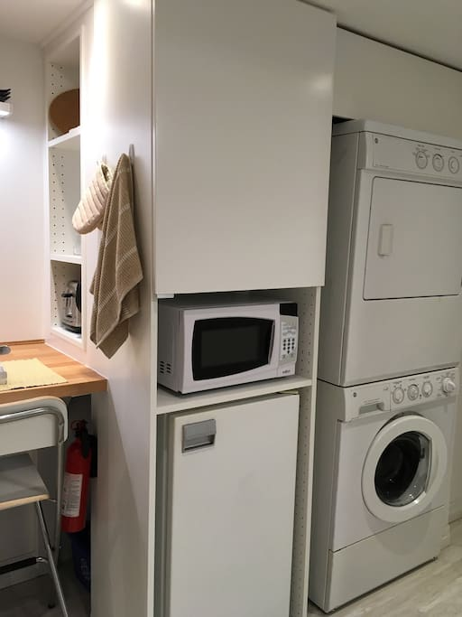 You have use of a washer and dryer
