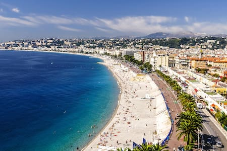 Pde des Anglais, Plage et Place Masséna à 2 mn - Nice