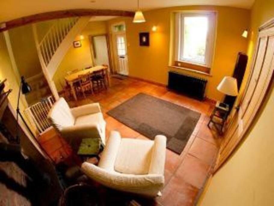 ..main room, with woodburner