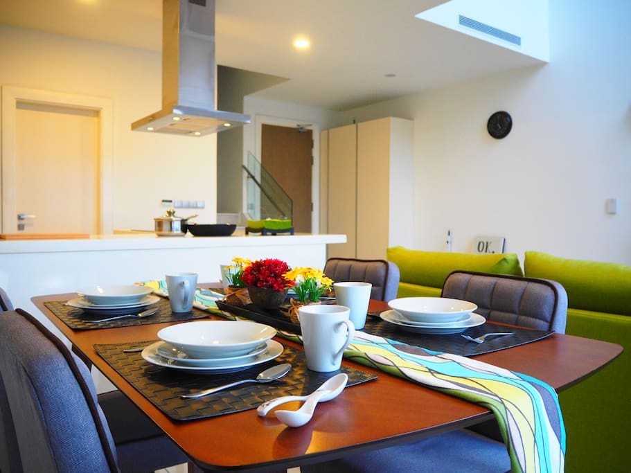 A Bigger Picture of Dining Area, Kitchen and Entrance