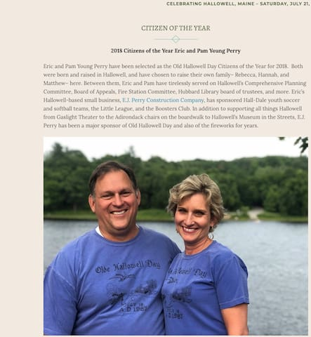 Eric and I were named Citizen's of the Year for 2018!