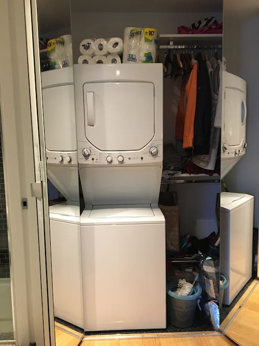 Laundry and Dryer inside the unit!