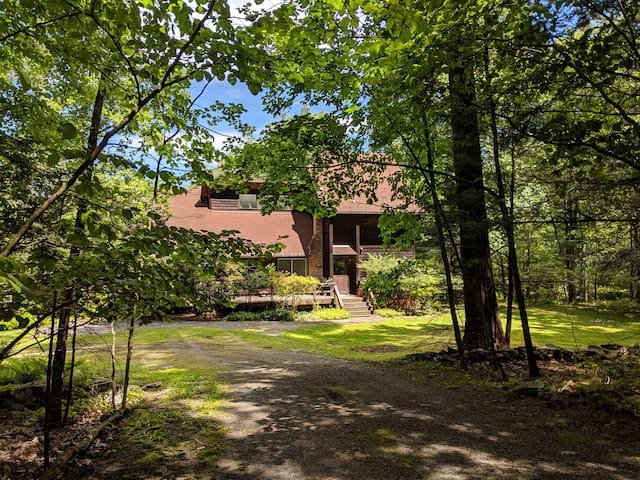 Comfortable and very quiet home in the woods of upstate New York.