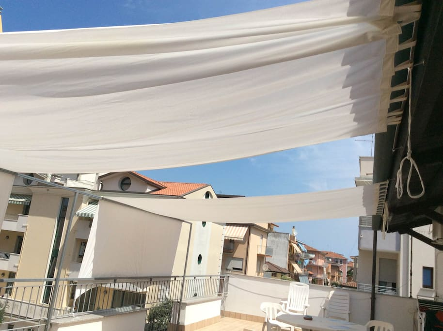 our 70 meters balcony and solarium