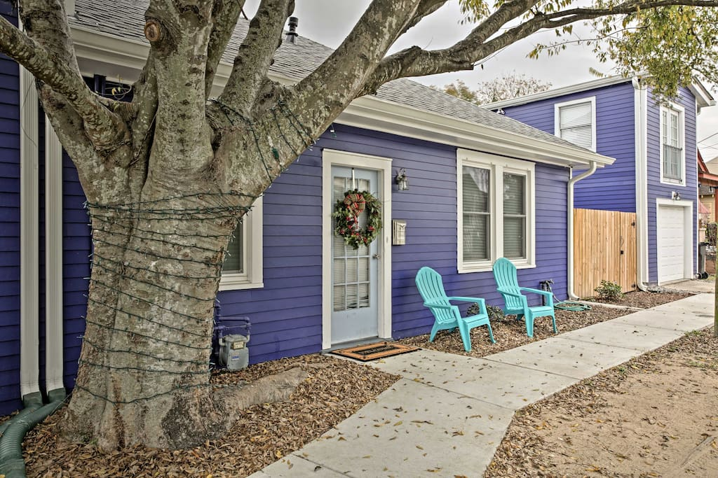 The quaint studio is charming both inside and out!