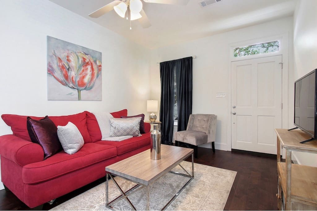 Cozy Living Area (Comfy Full Size Sofa Sleeper)