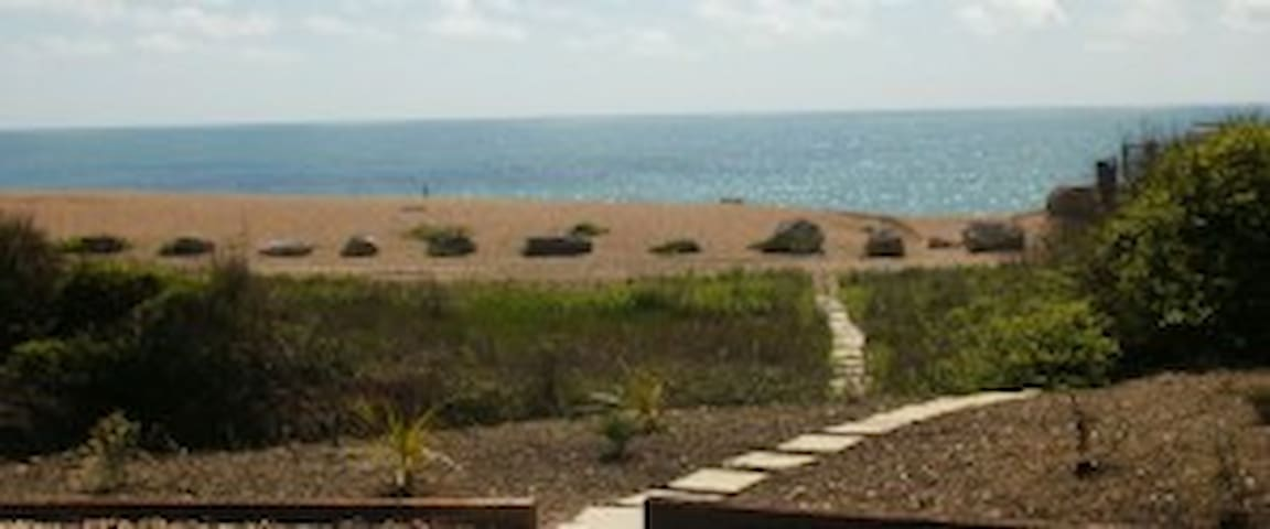 Private beach access and parking area
