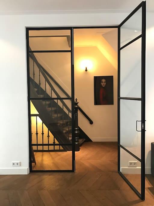 Steel door entrance ground floor