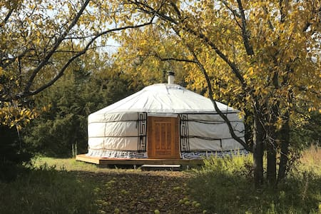 Sun & Moon Mongolian Yurt, Off-Grid