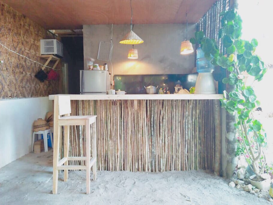 This is the kitchen area where guests can prepare and cook their meals. You may cook your own food. Siargao's local market offers fresh seafoods.