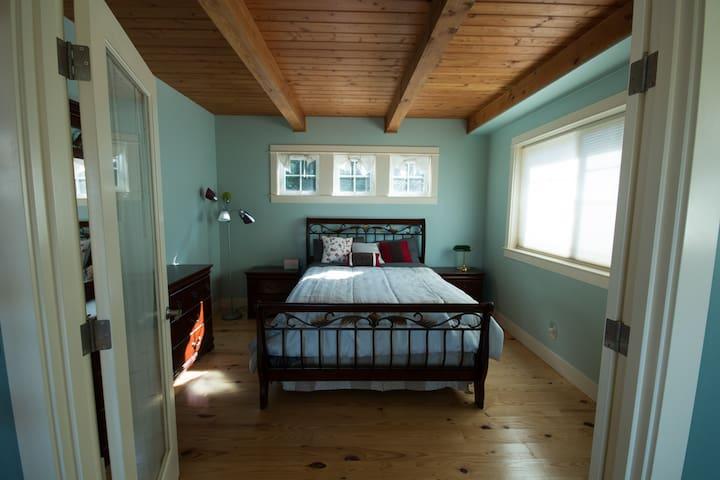 French door opens up to your bedroom