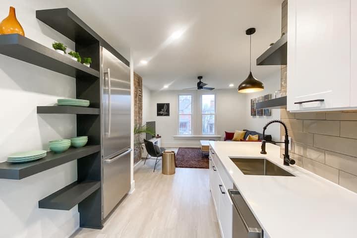 Newly Renovated + Huge Modern Flat