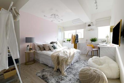 Stay&Gold-Room: D/MRT Zhongshan/Toilet/1 Bed/2pax