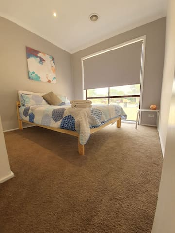 Bedroom 2, comfortable bed with sunny outlook